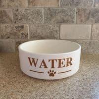 Ceramic Personalised Dog Bowl - CAPS